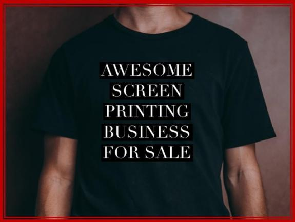 AWESOME SCREEN PRINTING BUSINESS - $95K plus STOCK   image