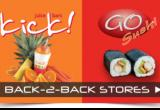 2 businesses in 1 location!  Go Sushi & Kick...Business For Sale