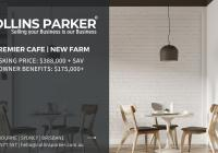 New Farm's premier Cafe now on the market...Business For Sale