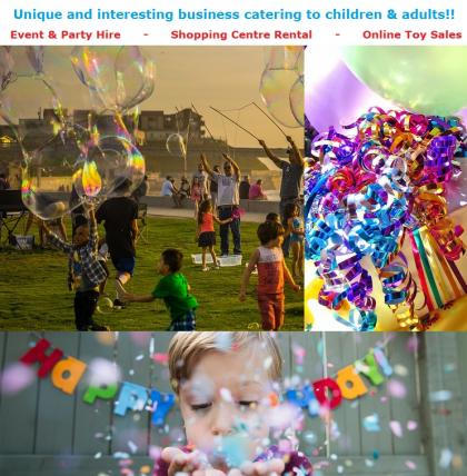 Kids Party & Corporate Event Hire with Online Toy Sales For